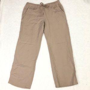 Sandro Drawstring Linen Blend Pants